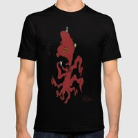 Fancy Monsters are Fancy! Mens Fitted Tee Black SMALL