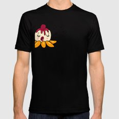 Peach Melba Mens Fitted Tee Black SMALL