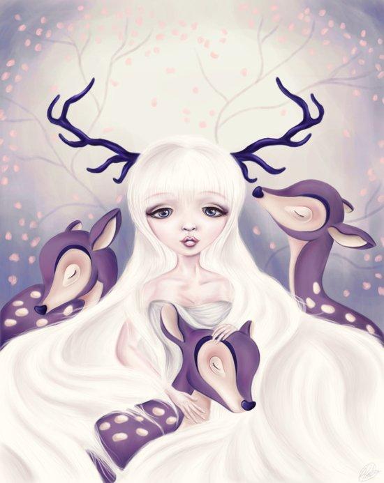 Deer: Protection Series Art Print