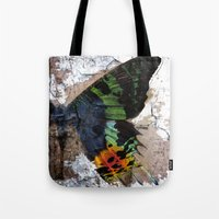Sunset Moth Wing Abstract Tote Bag