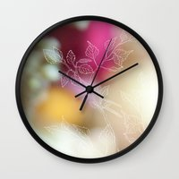 Colorful Branch Wall Clock