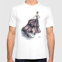 Audrey Hepburn In Pink Mens Fitted Tee White SMALL