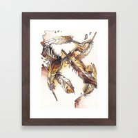 Chipewyan Feathers Framed Art Print