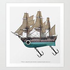 To catch a sea monster Art Print
