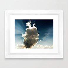 Sun Hidden by Cloud Framed Art Print