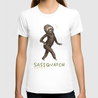 Sassquatch Womens Fitted Tee White SMALL