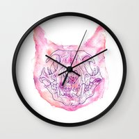 happy skeleton Wall Clock