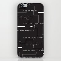 Who By Fire iPhone & iPod Skin