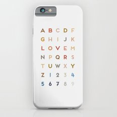 Letter Love - Color iPhone 6 Slim Case