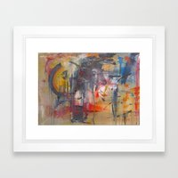 Chicks in mincer Framed Art Print