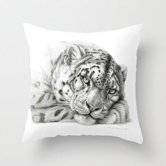 Pensive Snow Leopard G2011-011 Throw Pillow