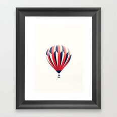 Red and black  hot air balloon Framed Art Print