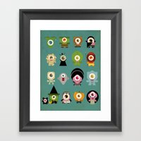 Monsters Nightmare Framed Art Print