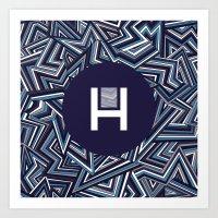 Halucinated Zigs Art Print