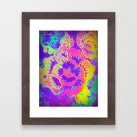 Neon Fantasy Framed Art Print