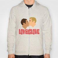 Loveislove, White Backgr… Hoody