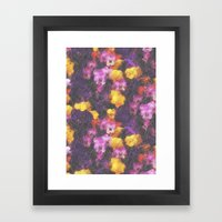 Violets And Pearls Framed Art Print
