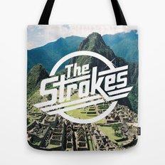 The Strokes Logo Machu Picchu Tote Bag