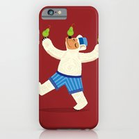 iPhone & iPod Case featuring A Bear With Pears (colour variation) by Oliver Lake