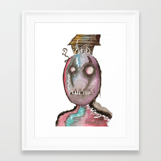 Stitch Framed Art Print