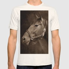 HORSE - SEPIA Mens Fitted Tee Natural SMALL