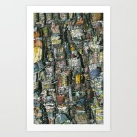 Dirty dishes Art Print