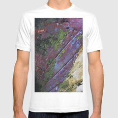 The painted Rainbow SMALL White Mens Fitted Tee