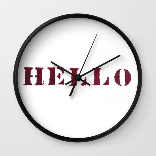 Hello You Wall Clock
