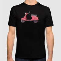 Vespa - ballpoint pen Mens Fitted Tee Black SMALL