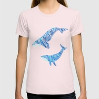 Two Whales Womens Fitted Tee Light Pink SMALL