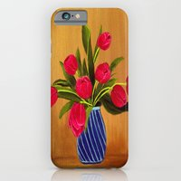 iPhone & iPod Case featuring Pink Tulips by maggs326
