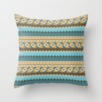 navajo pattern 3 Throw Pillow