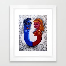 Opposites Attract Framed Art Print