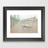 Pastel Pier Framed Art Print