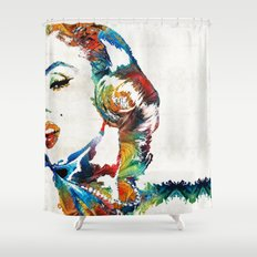 Marilyn - Bombshell By Sharon Cummings Shower Curtain