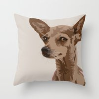 Macy the Chihuahua Dog Throw Pillow