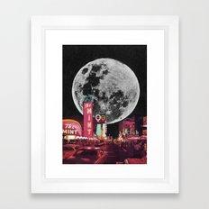 enter the moon  Framed Art Print
