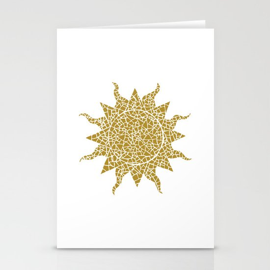 Mosaic Sun Stationery Card