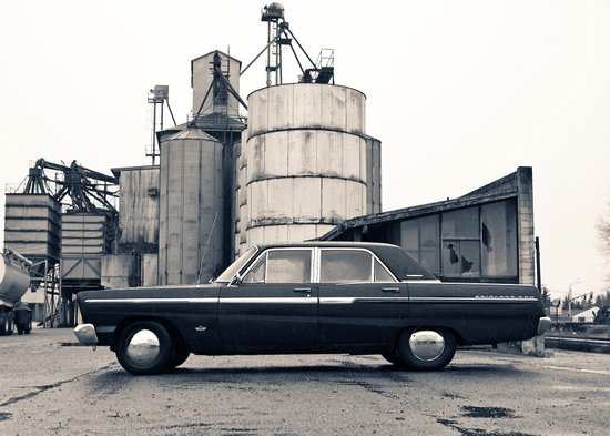 Industrial Fairlane Art Print