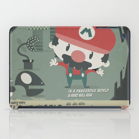 mario bros 4 fan art iPad Case