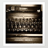 Remington Noiseless Art Print