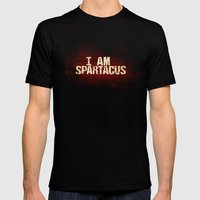 I am Spartacus Mens Fitted Tee Black SMALL