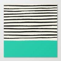 Mint x Stripes Canvas Print