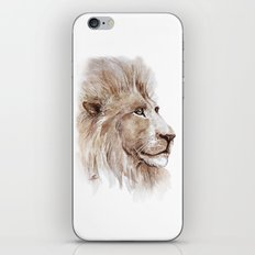 Wise lion iPhone & iPod Skin