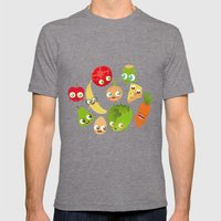 Food Mens Fitted Tee Tri-Grey SMALL