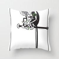 Mona Monkey Throw Pillow