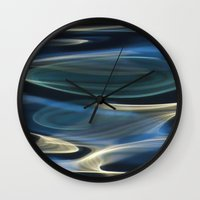 Water / H2O #2  (water abstract) Wall Clock