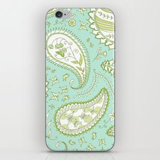 Pretty Paisley - Aqua/Green iPhone & iPod Skin