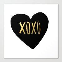 XOXO x Gold Canvas Print