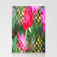 Checkered Rose Stationery Cards